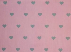 Cute-Pink-with-Grey-Hearts-Polka-Dot-Fat-Quarter-100-Cotton