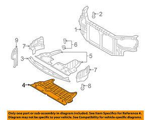 details about hyundai oem 06 10 sonata radiator core support engine cover 291203k250  hyundai sonata engine cover diagram #6