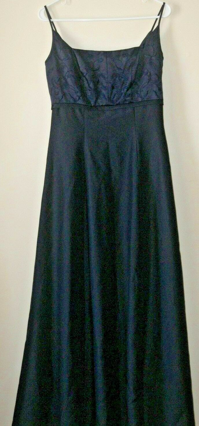 Mori Lee Navy Blau Floral Embroiderot Evening Dress Formal Bridesmaid Sz 10