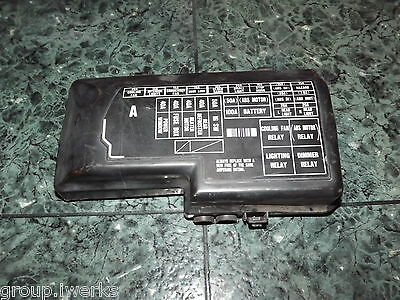 [DIAGRAM_5FD]  OEM 92-96 USDM Honda Prelude Si BB4 SS0 engine bay fuse box lid cover -  black | eBay | 97 Prelude Fuse Box |  | eBay