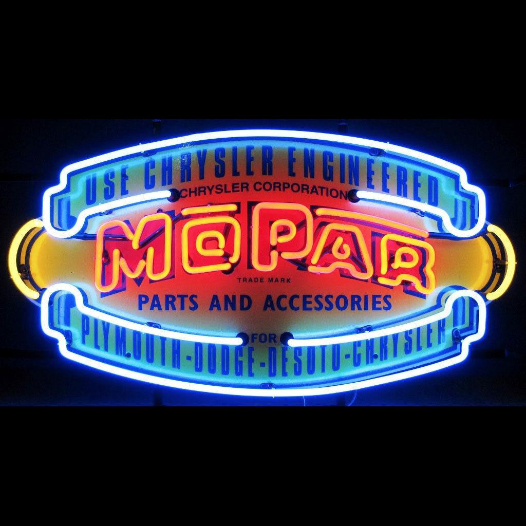 Mopar Parts Amp Accessories Vintage Shield Neon Sign