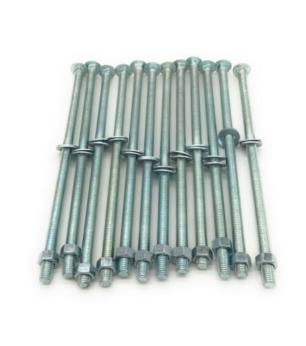 """3//8/"""" x 10/"""" Zinc-Plated Steel Carriage Bolts with Nuts /& Washers 12 per Pack"""