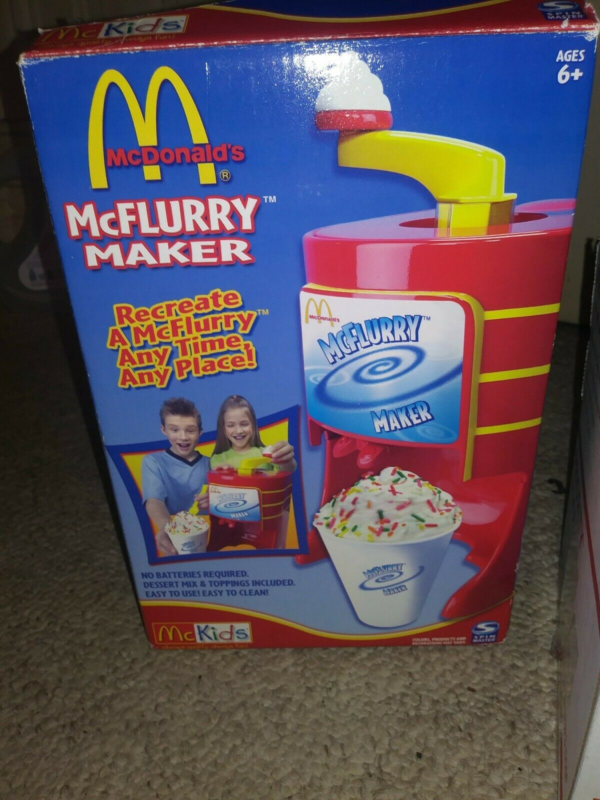 McDonald's McFlurry Maker Ice Cream Toy New In Box