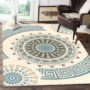 Traditional-Medallion-Area-Rug-Non-slip-Carpet-Dining-Room-Bohemian-Floor-Mat