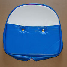 """Ford Massey Universal Blue White Blue and White Tractor Seat Cushion Cover 19"""""""