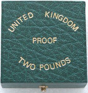 1983-1987-Royal-Mint-Gruen-Gold-Beweis-Zwei-Pfund-doppelte-Souveraen-Muenze-Etui