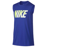 New Nike Big Boys Dri-Fit Tank Top FREE SHIPPING MSRP: $25 Black//Red LARGE