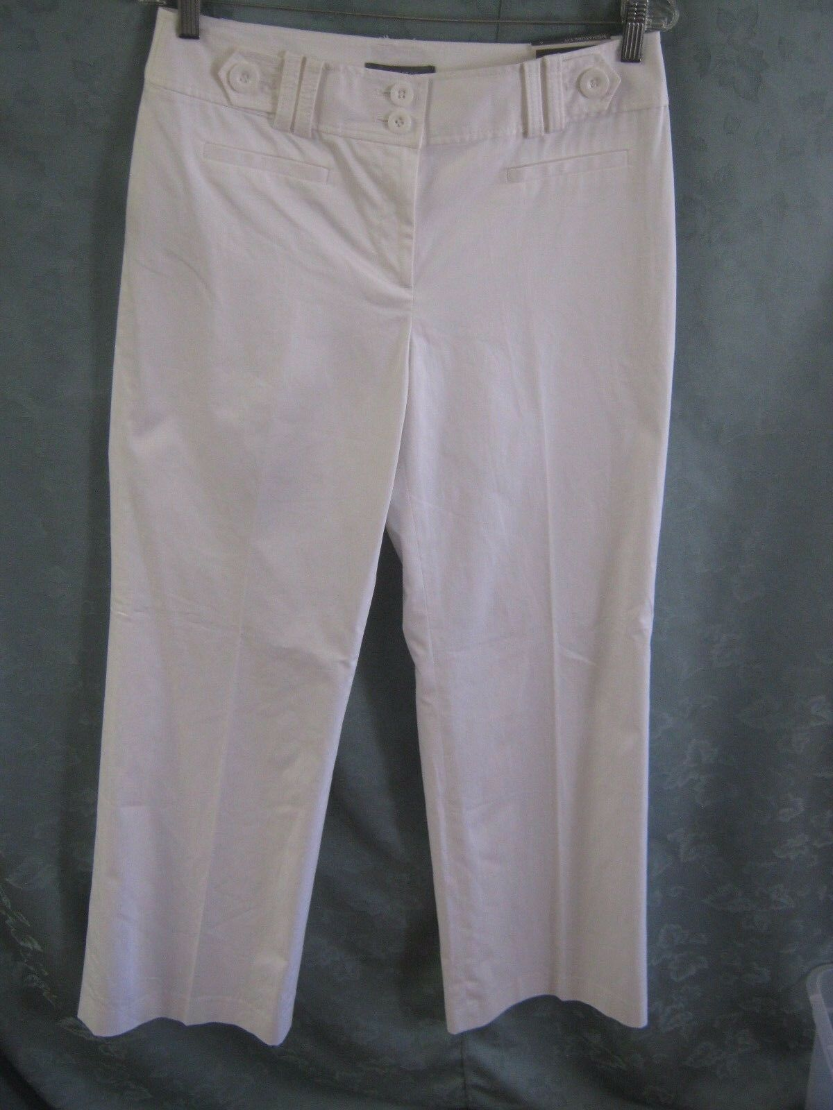 Ann Taylor Signature Fit White Pants Size 6 NWT Fully Lined Wide Leg