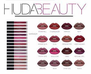 Neuf-Huda-Beauty-Liquide-Levre-Rouge-a-Levres-Mat-en-Boite-Vendeur-Royaume-Uni