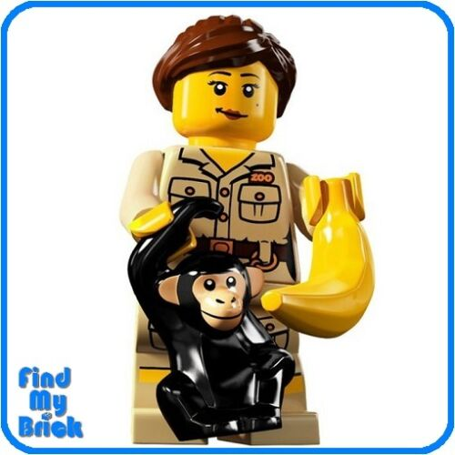 NEW Lego Minifigure 8805 Series 5 Zookeeper Zoo Keeper Not Sealed Brand NEW