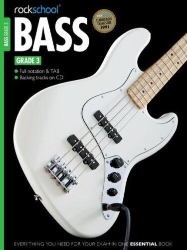 NEW Syllabus Rockschool Bass GUITAR 2012-2018 Learn to Play Music Book Grade 3