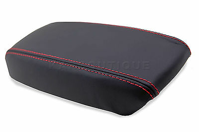 Armrst Cover for 94-01 Acura Integra Leather Center Console Lid with Red Stitch