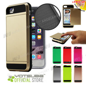 iPhone-5S-5-5C-SE-Case-Card-pocket-Color-Wallet-Cover-For-Apple