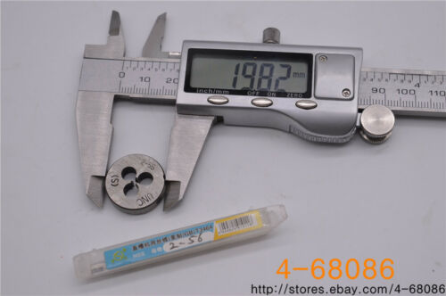 1pc 2-56 die  UNC British US made right hand taper brand 1pc 2-56  tap