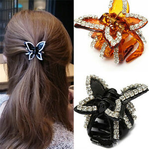 New-Women-Butterfly-Crystal-Rhinestone-Claw-Hairpin-Hair-Clip-Clamp-Accessory-NT