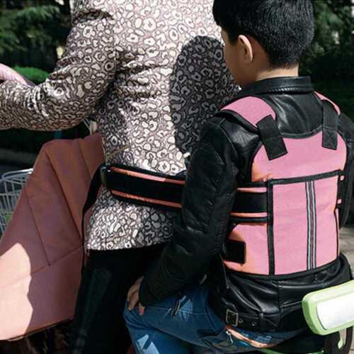 Kinder Sicherheitsgurt Motorrad Sitzgurt Rückenstützgürtel Schutzausrüstung