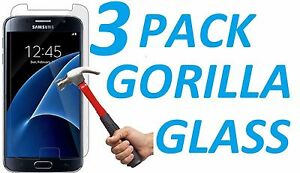 3x-9H-BALLISTIC-TEMPERED-GORILLA-GLASS-SCREEN-PROTECTOR-FOR-SAMSUNG-GALAXY-S7