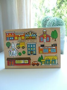 Ancien-Puzzle-En-Bois-Fisher-Price-Vintage