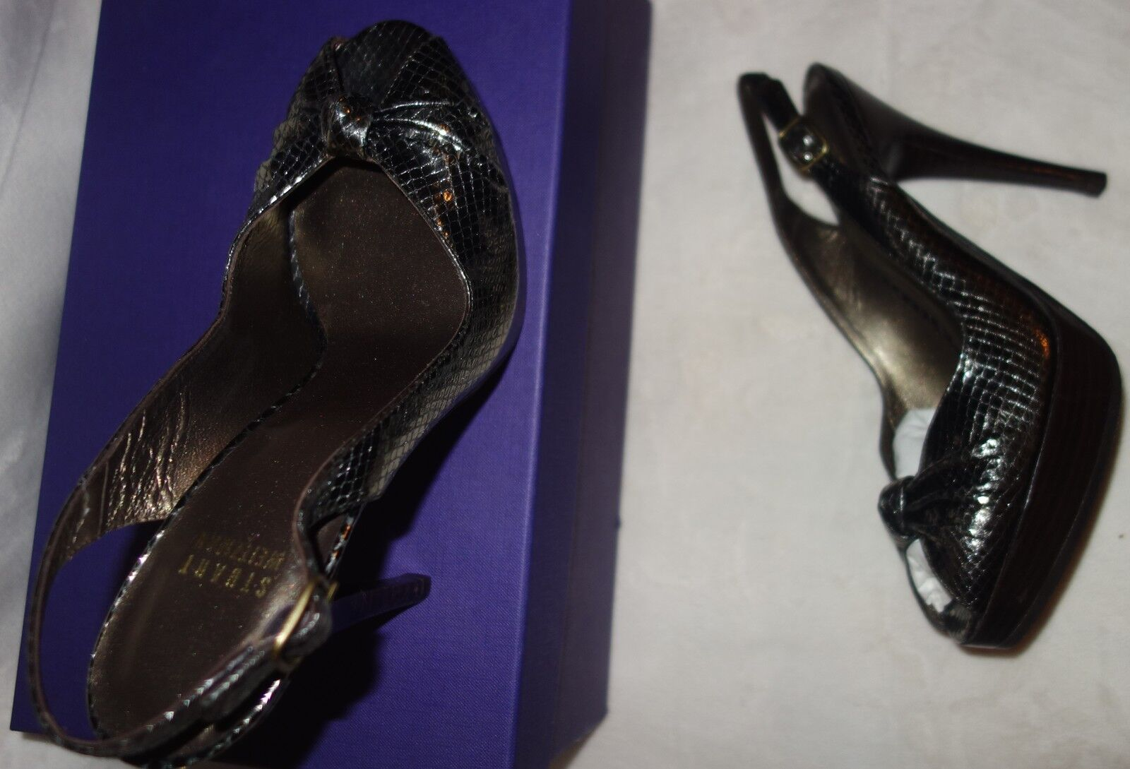 Stuart Weitzman 'Karnival' SZ Genuine Leder Heels sz 38.5 US SZ 'Karnival' 8 new 941657