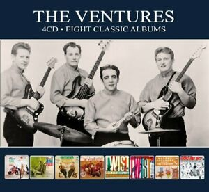 VENTURES-8-CLASSIC-ALBUMS-4-CD-NEU
