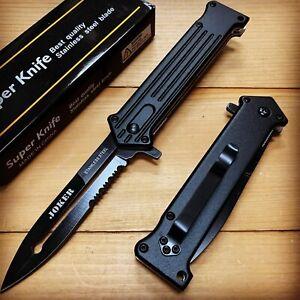 "8"" JOKER SPRING FOLDING Open ASSISTED STILETTO TACTICAL KNIFE Blade Pocket"