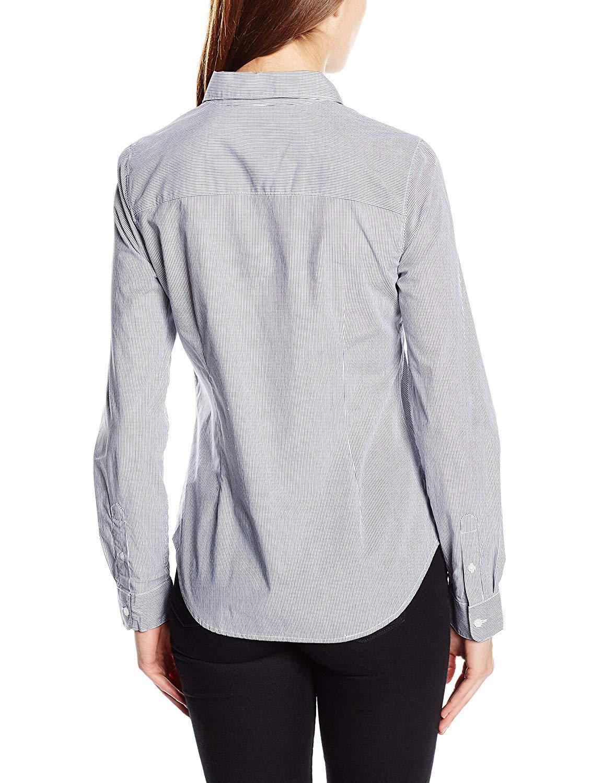 Selected Donna MEMA Stripe Camicia a a a Maniche Lunghe Taglia 12 UK BNWT RRP .95 Peacoat 40df1f
