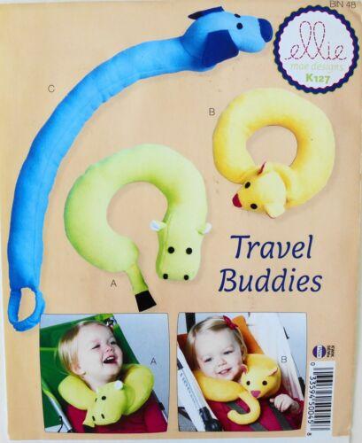 Ellie Mae K127 Travel Buddies Baby Childs Neck Support Pillow Sewing Pattern
