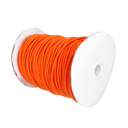 Orange Elastic Bungee 4mm x 10 Meters Shock Cord Marine Rope UV Resistant