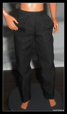 PANTS KEN DOLL BARBIE LOVES ELVIS PRESLEY BLACK SLACKS PANTS BOTTOM CLOTHING