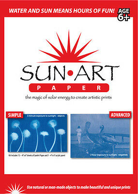 SUN-ART PAPER  #88050 TEDCO SCIENCE TOYS Fascinating 4x6 Shadow Prints*15 pcs