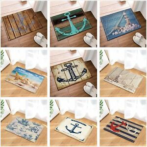 Nautical-Anchor-Beach-Sea-Starfish-Non-Slip-Carpet-Bath-Mat-Shower-Rug-Door-Mat