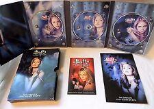 BUFFY THE VAMPIRE SLAYER (2001 3-DISC DVD) COMPLETE 1ST SEASON BOOK INSERT ART