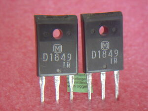2 pcs 2SD1849 org.MATSUSHITA NPN Transistor, 120W NEU NOS