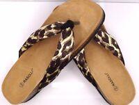 Rasolli Women's Calm Down Brown Leopard Sandal Shoe Sz. 9 Style E1228