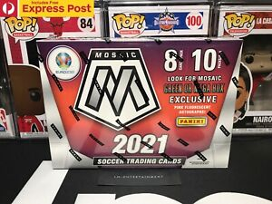 2021 PANINI MOSAIC UEFA EURO 2020 SOCCER / FOOTBALL MEGA BOX - 80 CARDS - SEALED