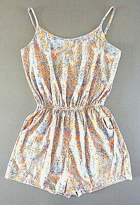 Damen Strandkleid Paisley Overall Kurz Sommer Kleid Jumpsuit Bunt 40-42 Primark Supplement Die Vitalenergie Und NäHren Yin
