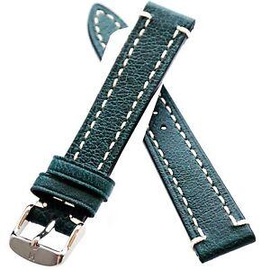 18mm-Green-HIRSCH-Liberty-Nature-Genuine-Leather-Watch-Strap-Band-Uhrenarmband