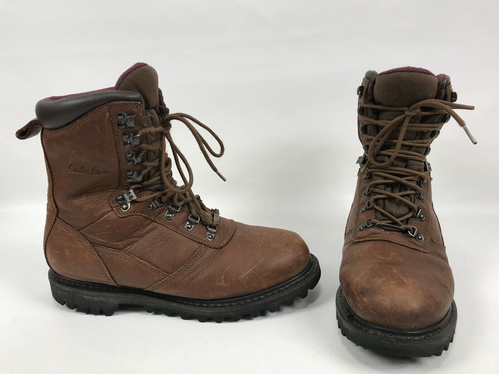 8c2a42d636b8 Cabelas Gore Tex Thinsulate Boots Mens Size 10.5 D Brown Hiking Work shoes  10
