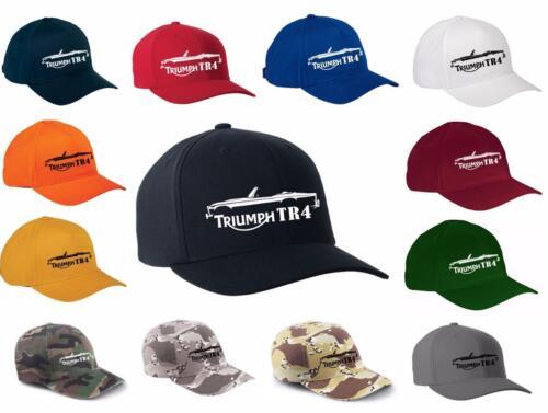 Triumph TR4 TR-4 Sports Car Classic Color Outline Design Hat Cap NEW
