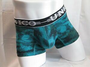 Unico-Underwear-Microfiber-Boxer-Brief-Dots-Green-XL