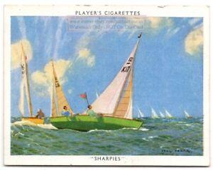 Sharpie-Class-Racing-Twelve-Square-Metre-Sailboat-1930s-Trade-Card