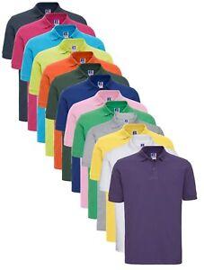 Russell-Jerzees-569M-Mens-Mans-Plain-Cotton-Polo-Golf-Sports-Shirt-S-4XL