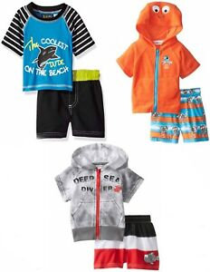 95f75d9e1c Baby Boy Swim Sets - Rash Guard or Cover Up Hoodie & Trunks NWT 0 6 ...