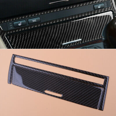 Carbon Fiber Style Console Ashtray Panel Trim Cover Sticker Fit For BMW E46
