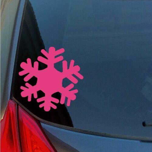 Snowflake vinyl sticker decal winter snow mountain park resort ski snowboarding
