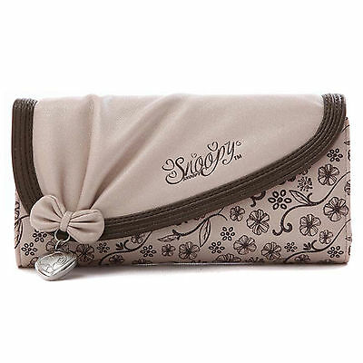 Elegant Bowknot Style Womens Bifold Clutch Leather Purse Long Wallet Bag