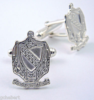 Tau Kappa Epsilon, ΤΚΕ, Crest  Cufflinks .925 Sterling Silver By McCartney
