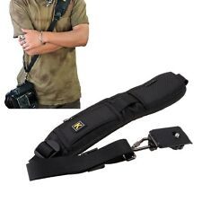 Black Camera Sling Belt Single Shoulder Strap for DSLR SLR Camera Canon Nikon
