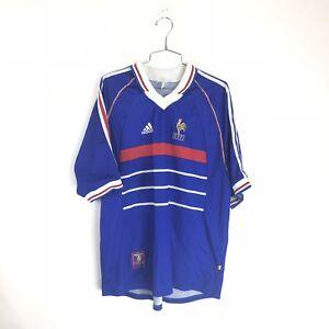 269da7a7a Vintage FFF Adidas France 1998 Home World Cup Soccer Jersey Football ...