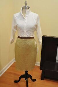 Lanvin Gold Length Rok Retail1100 Silk 6 Mid Nwt Maat 0knwOP8